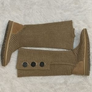 UGG Tan Cardy Sweater Knit Boots Tall or Slouch